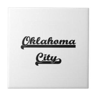 Amo el diseño clásico de Oklahoma del Oklahoma Azulejo Cuadrado Pequeño
