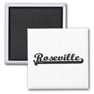 Amo el diseño clásico de Roseville California Imán Cuadrado