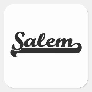 Amo el diseño clásico de Salem Oregon Pegatina Cuadrada