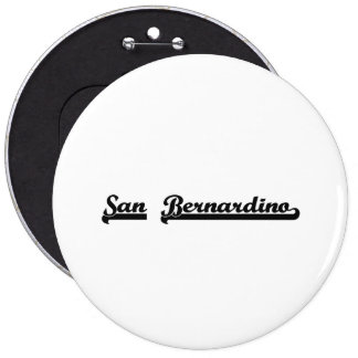 Amo el diseño clásico de San Bernardino California Pin Redondo 15 Cm