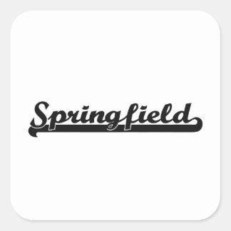 Amo el diseño clásico de Springfield Missouri Pegatina Cuadrada