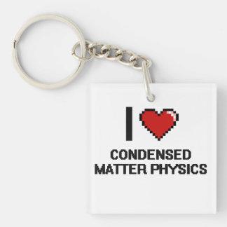 Amo el diseño condensado de Digitaces de la física Llavero Cuadrado Acrílico A Una Cara