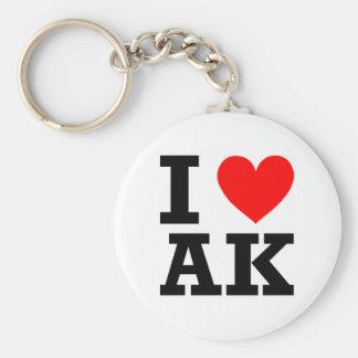 Amo el diseño de Alaska Llavero Redondo Tipo Pin
