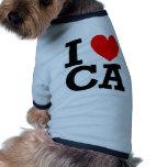 Amo el diseño de California Camisetas De Mascota