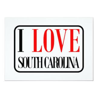 """Amo el diseño de Carolina del Sur Invitación 5"""" X 7"""""""