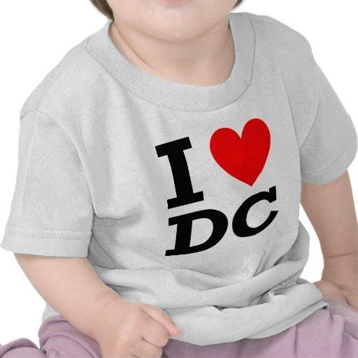 Amo el diseño de DC Camiseta
