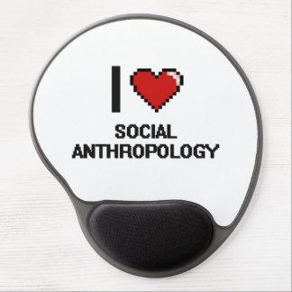 Amo el diseño de Digitaces de la antropología Alfombrillas De Ratón Con Gel