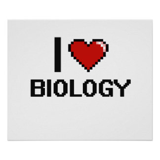 Amo el diseño de Digitaces de la biología Póster