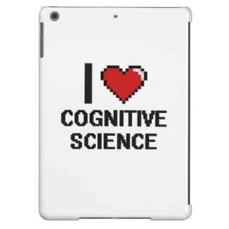 Amo el diseño de Digitaces de la ciencia cognitiva Funda Para iPad Air