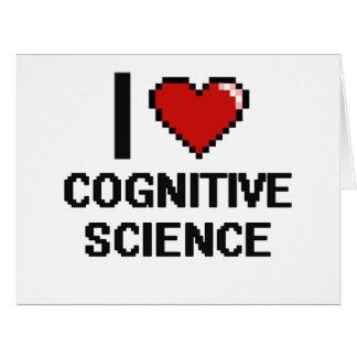 Amo el diseño de Digitaces de la ciencia cognitiva Tarjeta De Felicitación Grande