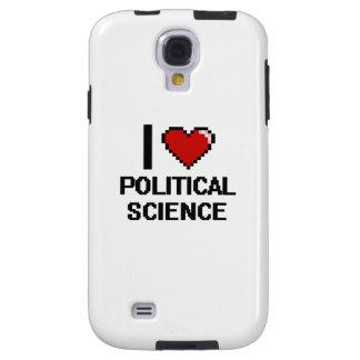 Amo el diseño de Digitaces de la ciencia política Funda Para Galaxy S4