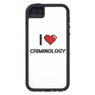Amo el diseño de Digitaces de la criminología iPhone 5 Carcasas