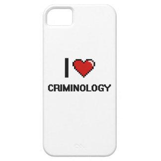 Amo el diseño de Digitaces de la criminología Funda Para iPhone 5 Barely There