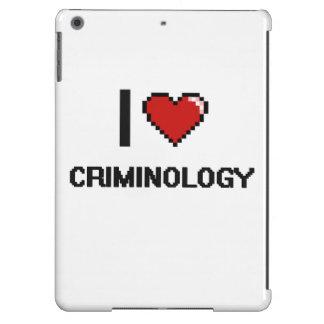 Amo el diseño de Digitaces de la criminología Funda Para iPad Air