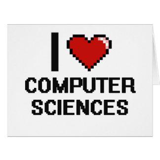 Amo el diseño de Digitaces de la informática Tarjeta De Felicitación Grande