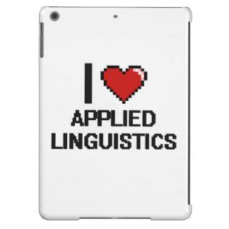 Amo el diseño de Digitaces de la lingüística Funda Para iPad Air