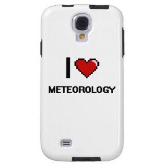 Amo el diseño de Digitaces de la meteorología Funda Para Galaxy S4