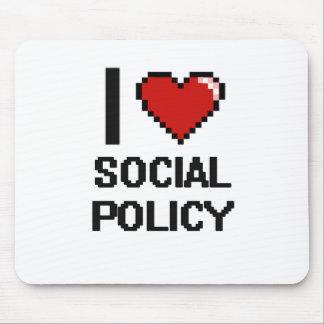 Amo el diseño de Digitaces de la política social Alfombrilla De Raton