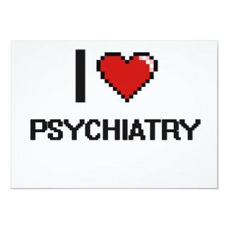 """Amo el diseño de Digitaces de la psiquiatría Invitación 5"""" X 7"""""""