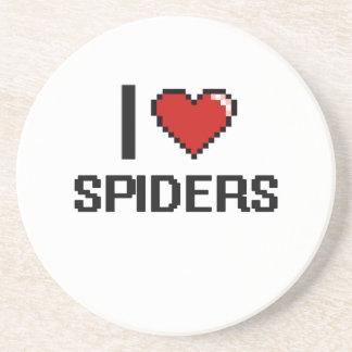 Amo el diseño de Digitaces de las arañas Posavasos De Arenisca