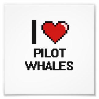 Amo el diseño de Digitaces de las ballenas Cojinete