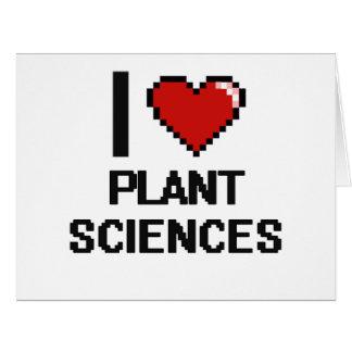 Amo el diseño de Digitaces de las botánicas Tarjeta De Felicitación Grande