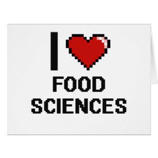 Amo el diseño de Digitaces de las ciencias de la Tarjeta De Felicitación Grande
