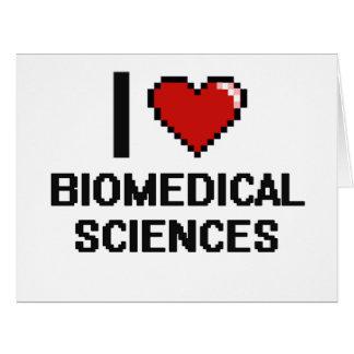 Amo el diseño de Digitaces de las ciencias Tarjeta De Felicitación Grande