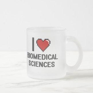 Amo el diseño de Digitaces de las ciencias Taza De Cristal
