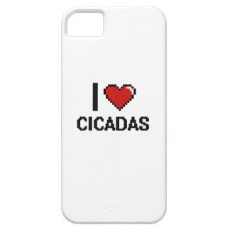 Amo el diseño de Digitaces de las cigarras iPhone 5 Carcasa