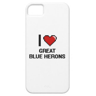 Amo el diseño de Digitaces de las garzas de gran iPhone 5 Carcasa
