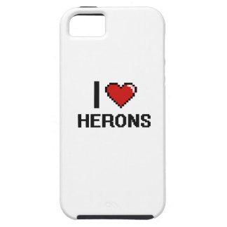 Amo el diseño de Digitaces de las garzas iPhone 5 Carcasa