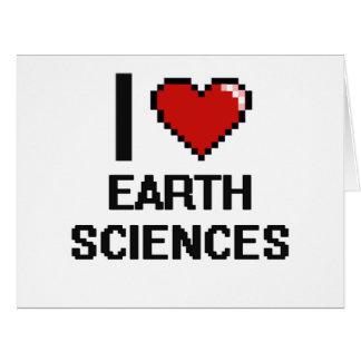 Amo el diseño de Digitaces de las geologías Tarjeta De Felicitación Grande