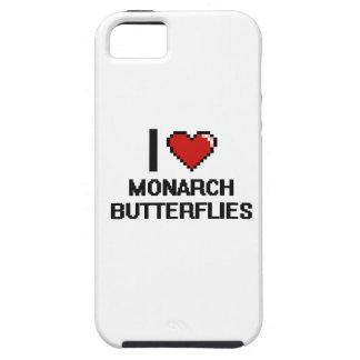 Amo el diseño de Digitaces de las mariposas de iPhone 5 Carcasas