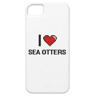 Amo el diseño de Digitaces de las nutrias de mar iPhone 5 Protector