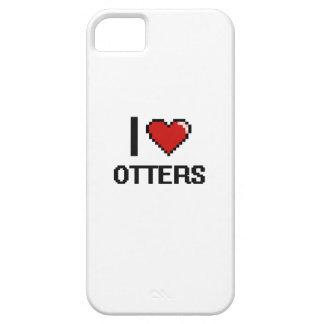 Amo el diseño de Digitaces de las nutrias iPhone 5 Case-Mate Funda
