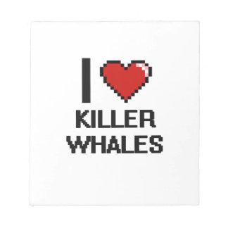Amo el diseño de Digitaces de las orcas Bloc De Notas