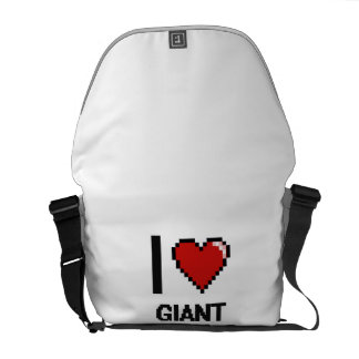 Amo el diseño de Digitaces de las pandas gigantes Bolsas Messenger