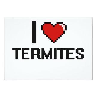 Amo el diseño de Digitaces de las termitas Invitación 12,7 X 17,8 Cm