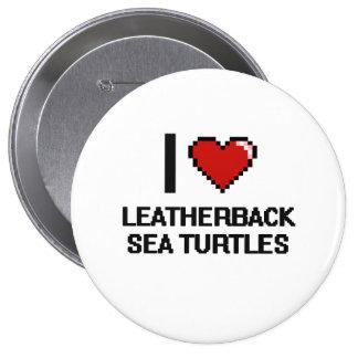 Amo el diseño de Digitaces de las tortugas de mar Pin Redondo 10 Cm