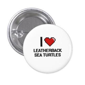 Amo el diseño de Digitaces de las tortugas de mar Pin Redondo 2,5 Cm