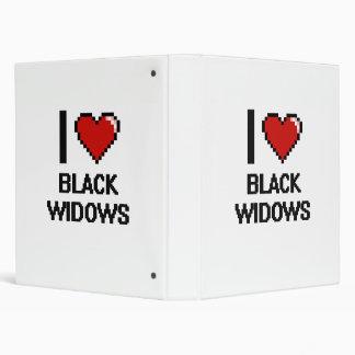 Amo el diseño de Digitaces de las viudas negras Carpeta 2,5 Cm