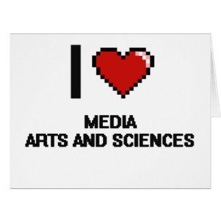Amo el diseño de Digitaces de los artes y de las Tarjeta De Felicitación Grande