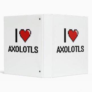 Amo el diseño de Digitaces de los Axolotls Carpeta 2,5 Cm