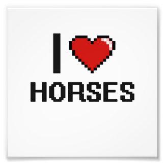 Amo el diseño de Digitaces de los caballos Cojinete