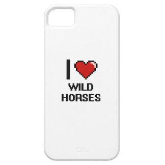 Amo el diseño de Digitaces de los caballos iPhone 5 Carcasa