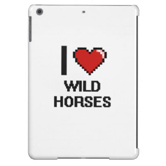 Amo el diseño de Digitaces de los caballos Funda Para iPad Air