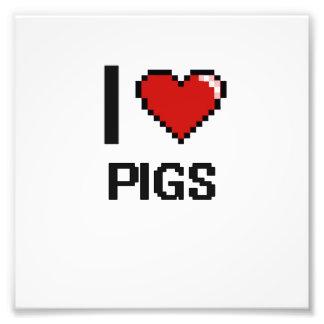 Amo el diseño de Digitaces de los cerdos Cojinete