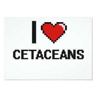 """Amo el diseño de Digitaces de los cetáceos Invitación 5"""" X 7"""""""