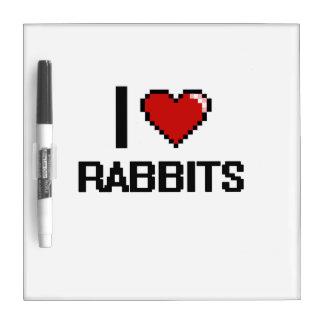 Amo el diseño de Digitaces de los conejos Pizarras Blancas